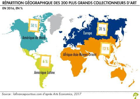 Répartition géographique des collectionneurs d'art