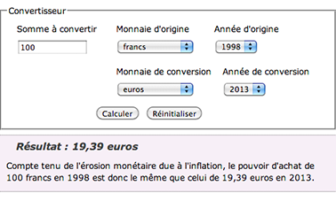 Convertisseur Franc Euro Votre Pouvoir D Achat A T Il Baisse La Finance Pour Tous
